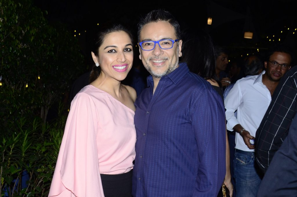 Diva and Naresh Budhrani at the afterparty of Grover Zampa Vineyards Inter-Club Golf Championship_