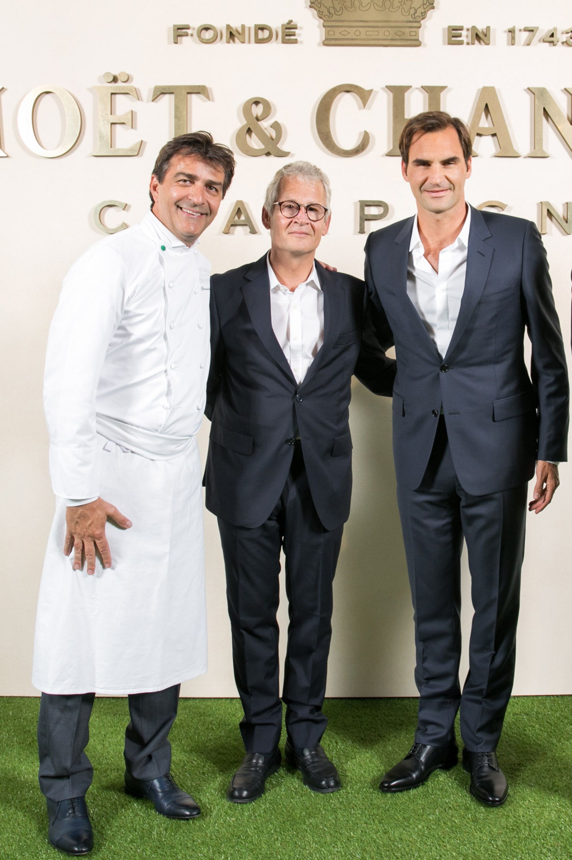 Moët & Chandon Roger Federer Tribute event_Yannick Alléno, Stephane B